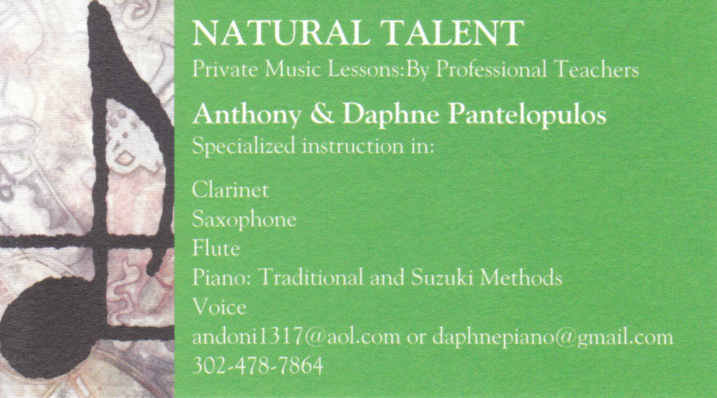 Natural Talent Business Card